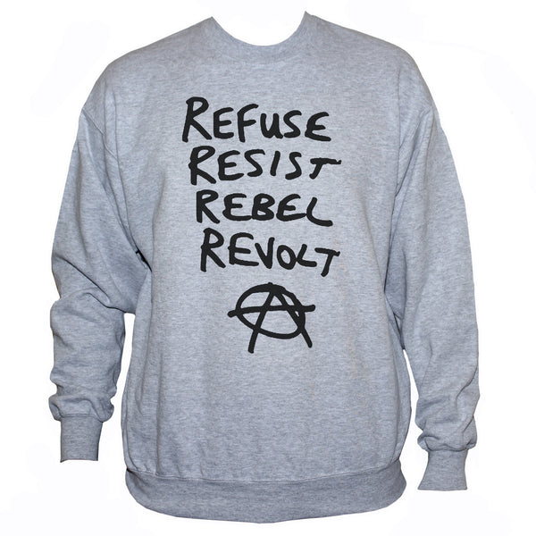 Anarchist Political Protest Graphic Sweatshirt