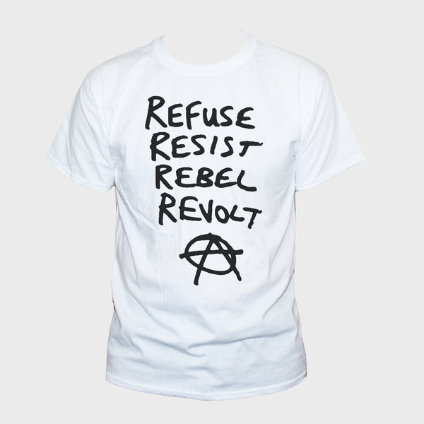 Anarchist Refuse Resist Rebel Revolt Political Protest T shirt