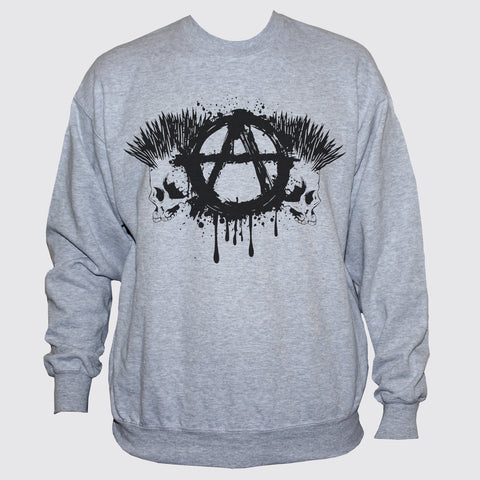 Anarchist Punk Skulls Sweatshirt Classic Fit Unisex