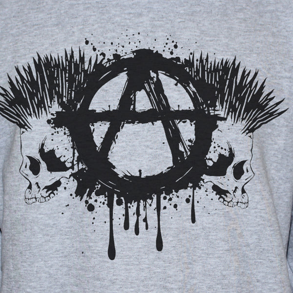 Anarchy Skulls Punk Style Graphic T shirt