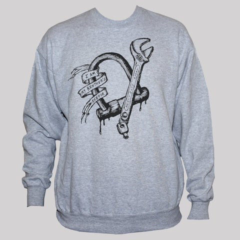 "Biker Rebel Bad Boy ""Brothers Keeper"" Graphic Sweatshirt"