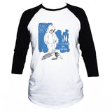 """Don't Feed The Pigeons"" Cute Emo Style T shirt 3/4 Sleeve"