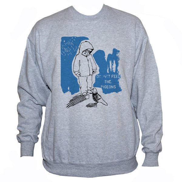"""Do Not Feed The Pigeons"" Cute Emo Style Graphic Sweatshirt"