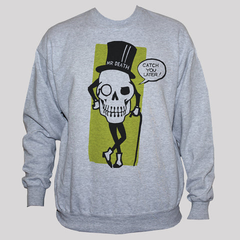 Funny Gothic Mr Death Skull Graphic Sweatshirt