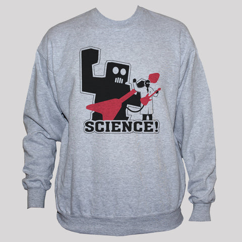 Funny Geek Nerd Robot Science Rock Star Sweatshirt