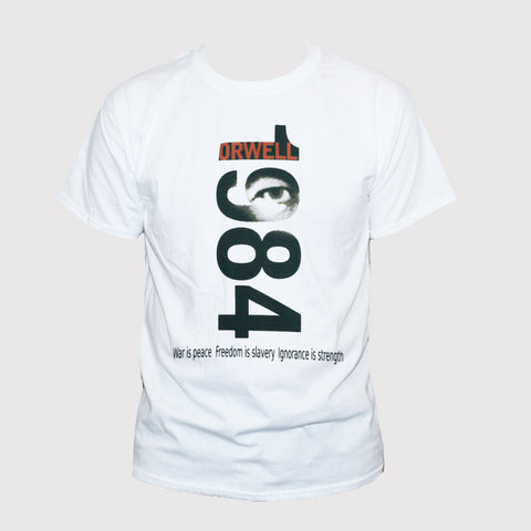 "George Orwell Political 1984 ""War Is Peace Freedom Is Slavery"" T shirt"