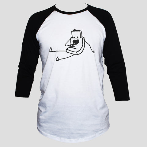 Cute Robot In Love T shirt 3/4 Sleeve
