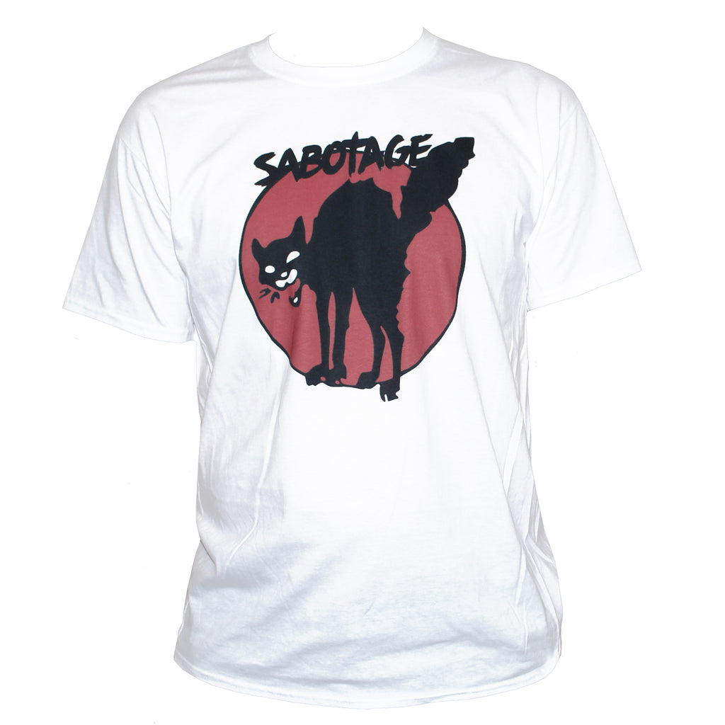 "Anarchist ""Sabotage"" Black Cat T shirt Political Left Wing Revolution Top"