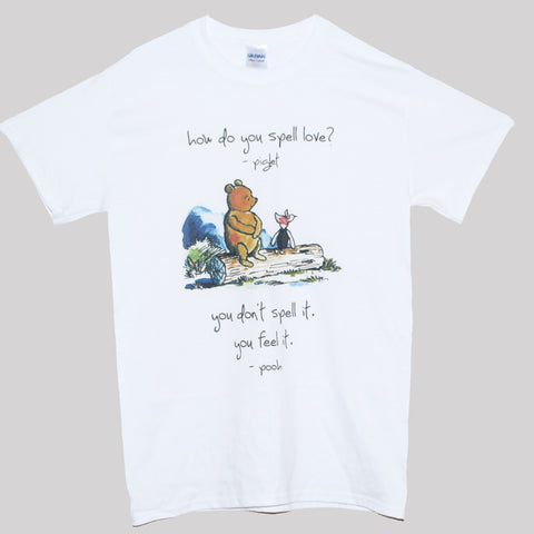 Winnie The Pooh Love Quote T shirt