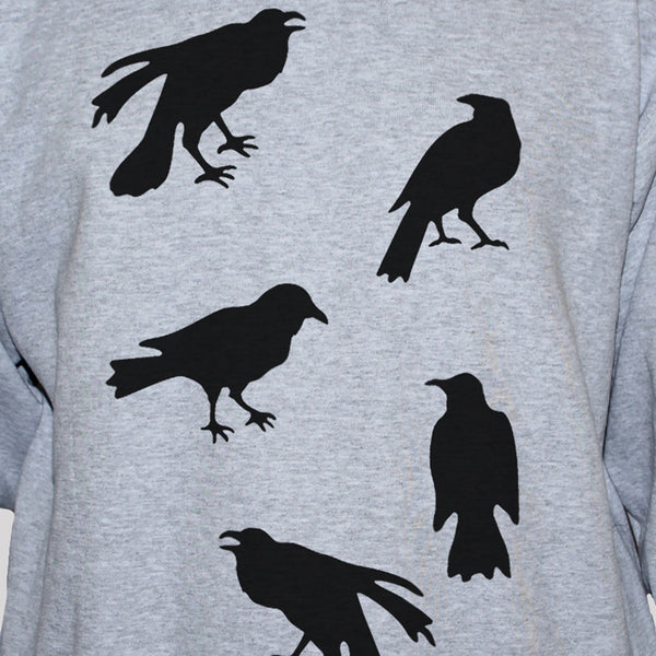 Five Crows Retro Style Graphic T shirt