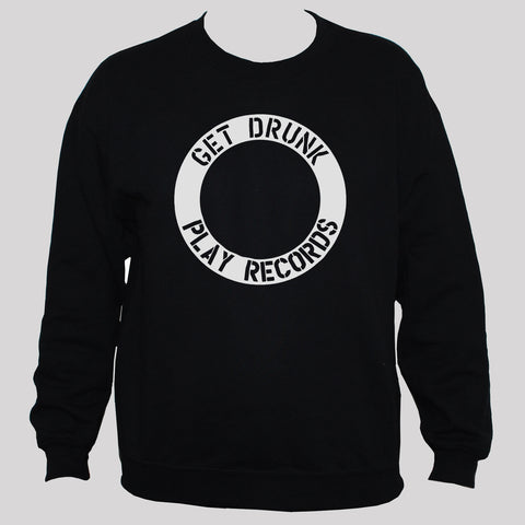 "Funny DJ ""Get Drunk Play Records"" Graphic Sweatshirt"