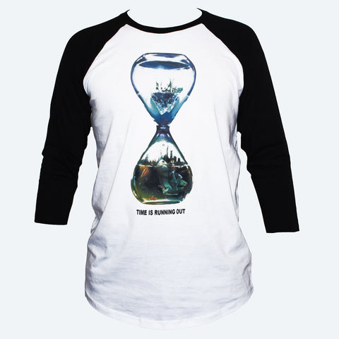 Climate Change Global Warming T shirt 3/4 Sleeve Eco Activist Tee