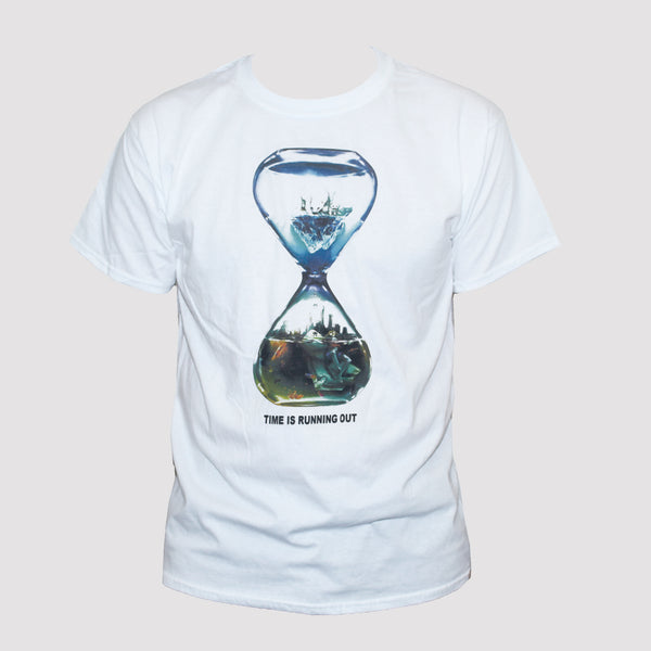 "Global Warming ""Time Is Running Out"" Political Protest T shirt"