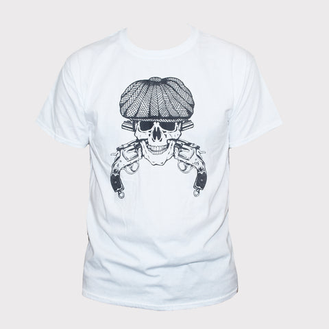 Tommy Shelby Skull T shirt Peaky Blinders Rockabilly Goth Tee