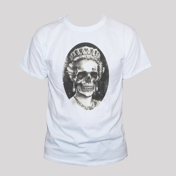 Dead Queen's Skull Punk Goth Style Graphic T shirt