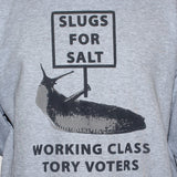 anti tory sweatshirt labour activist left wing socialist sweater close up