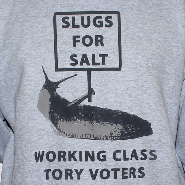 Funny Political Anti Tory/Conservative Party Sweatshirt Grey