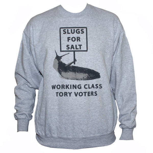 anti tory sweatshirt labour activist left wing socialist sweater grey