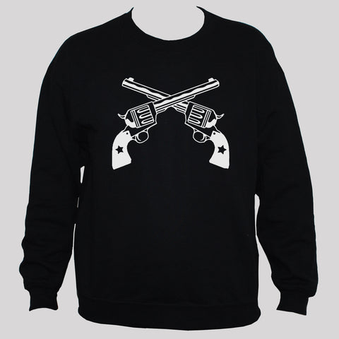 Crossed Guns/Revolvers Rebel Outlaw Retro Style Sweatshirt