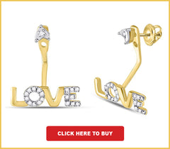 CZ I Love You Heart Pendant