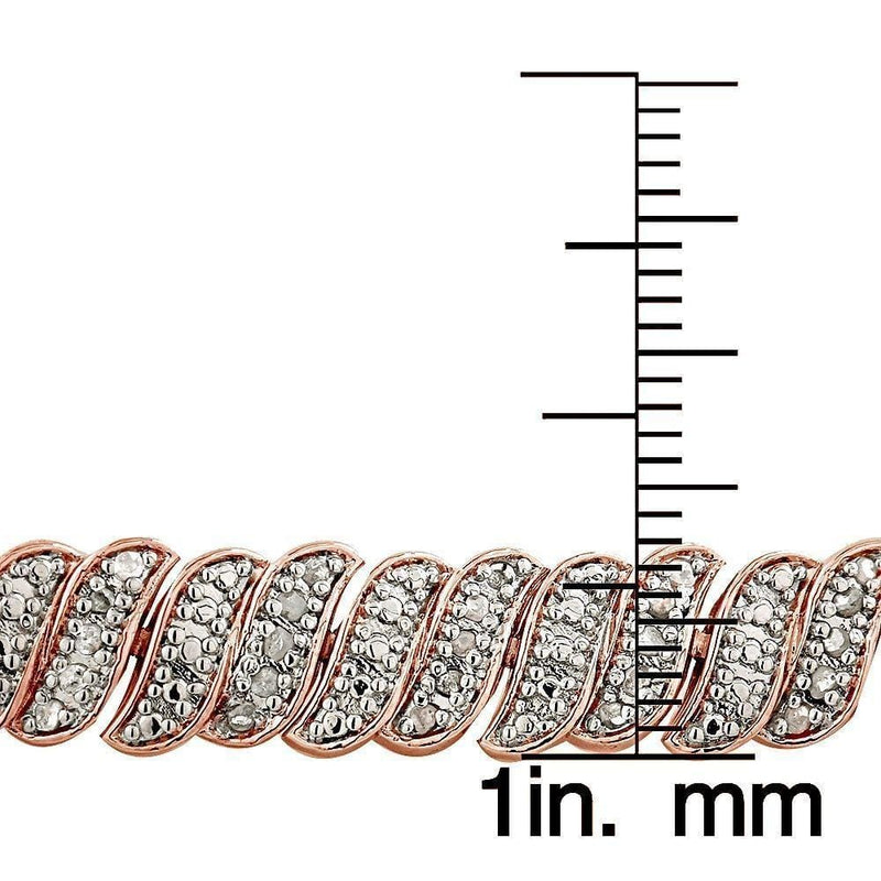 18K Rose Gold Plated 1.00CT Diamond Tennis Bracelet, Bracelets, Jawa Jewelers, Jawa Jewelers