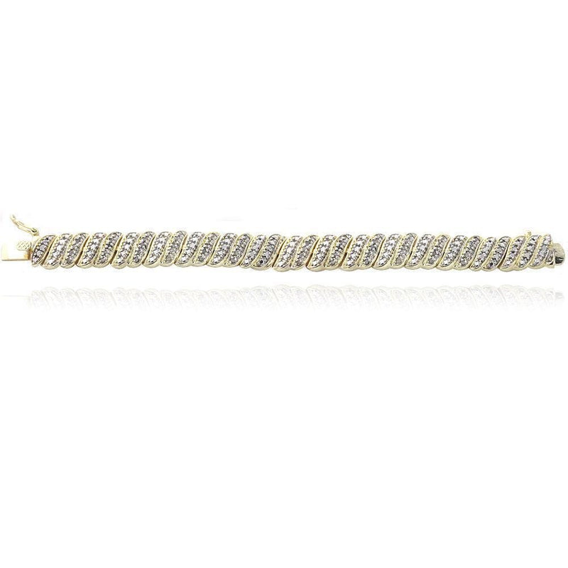 18K Gold Plated Diamond 1.00CT Tennis Bracelet, Bracelets, Jawa Jewelers, Jawa Jewelers
