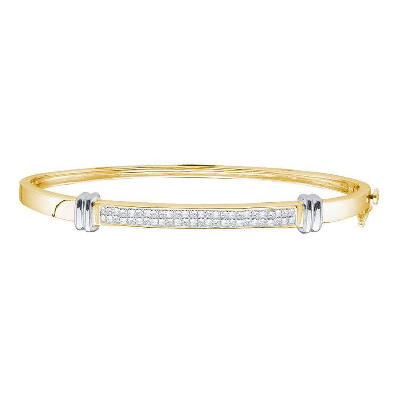 Two-tone Gold Bangle Bracelet