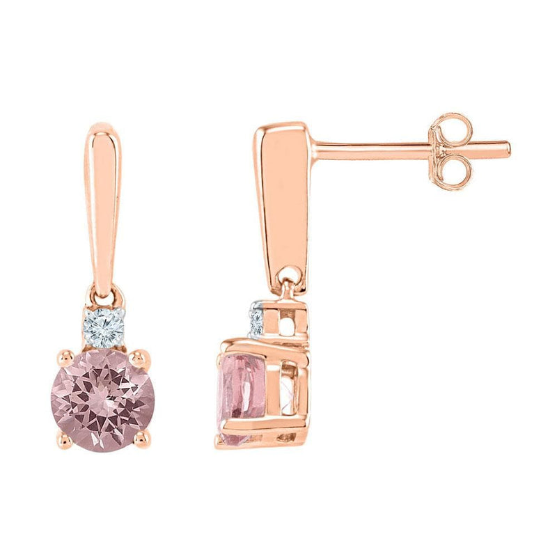 Morganite Dangle Earrings
