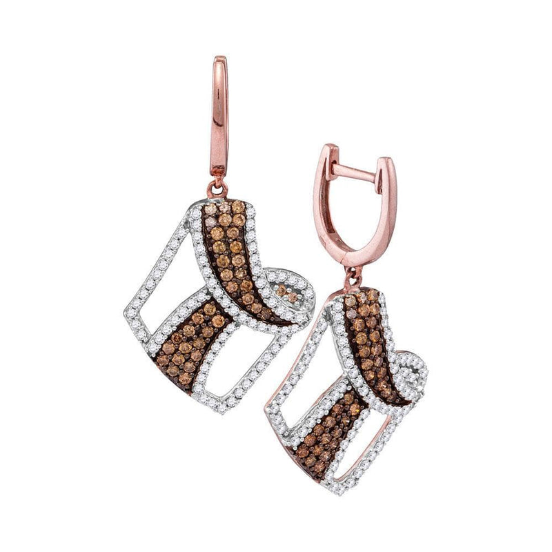 rose Gold brown Diamond Earrings