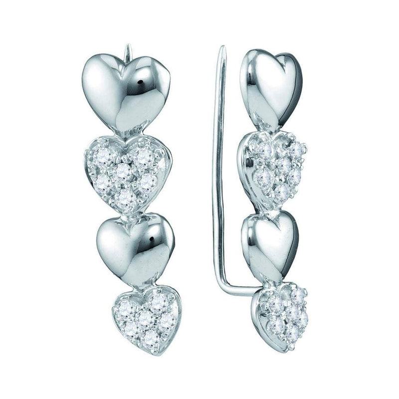 Heart Climber Earrings