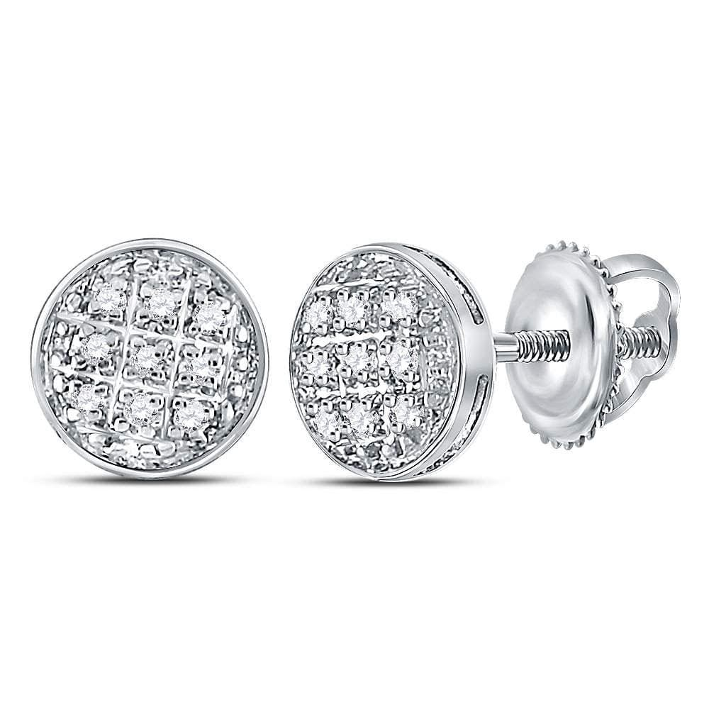 White Gold Diamond Circle Earrings