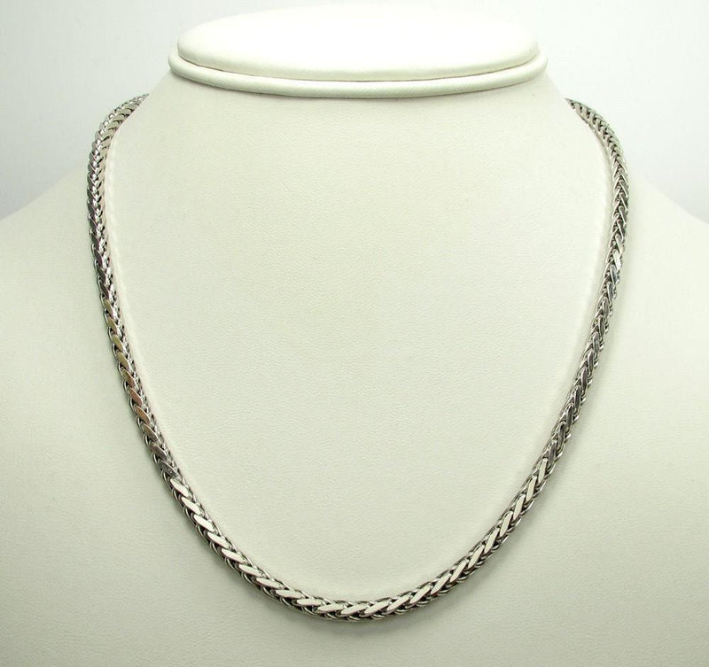 20 inch White Gold Palm Chain