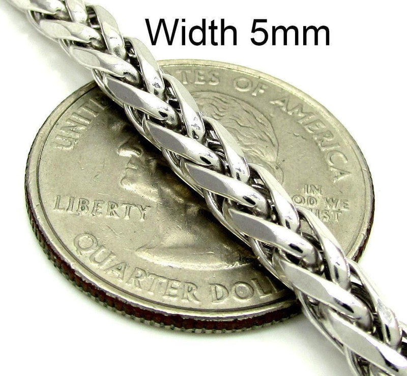 5MM White Gold Palm Chain