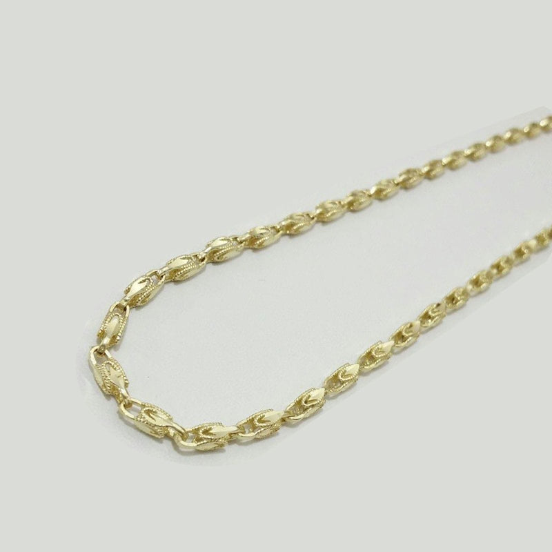 "Womens 10K Yellow Gold Turkish 3MM Chain Necklace 18""-24"", Chain, JJ-AG, Jawa Jewelers"