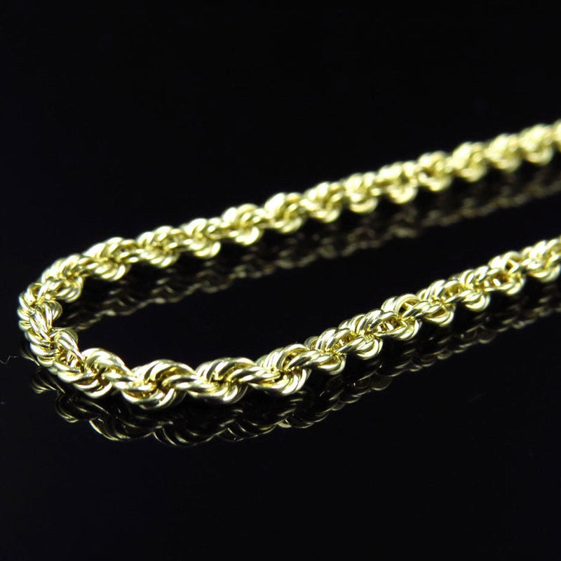 10K Yellow Gold 5MM Hollow Rope Chain Necklace, Chain, JJ-AG, Jawa Jewelers