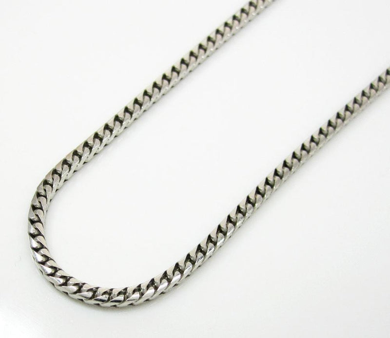 White Gold Diamond Cut Franco Chain