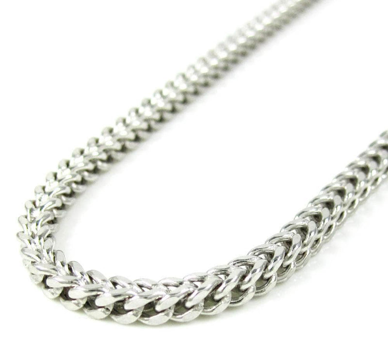 10K White Gold 3MM Hollow Franco Chain, Chain, JJ-AG, Jawa Jewelers