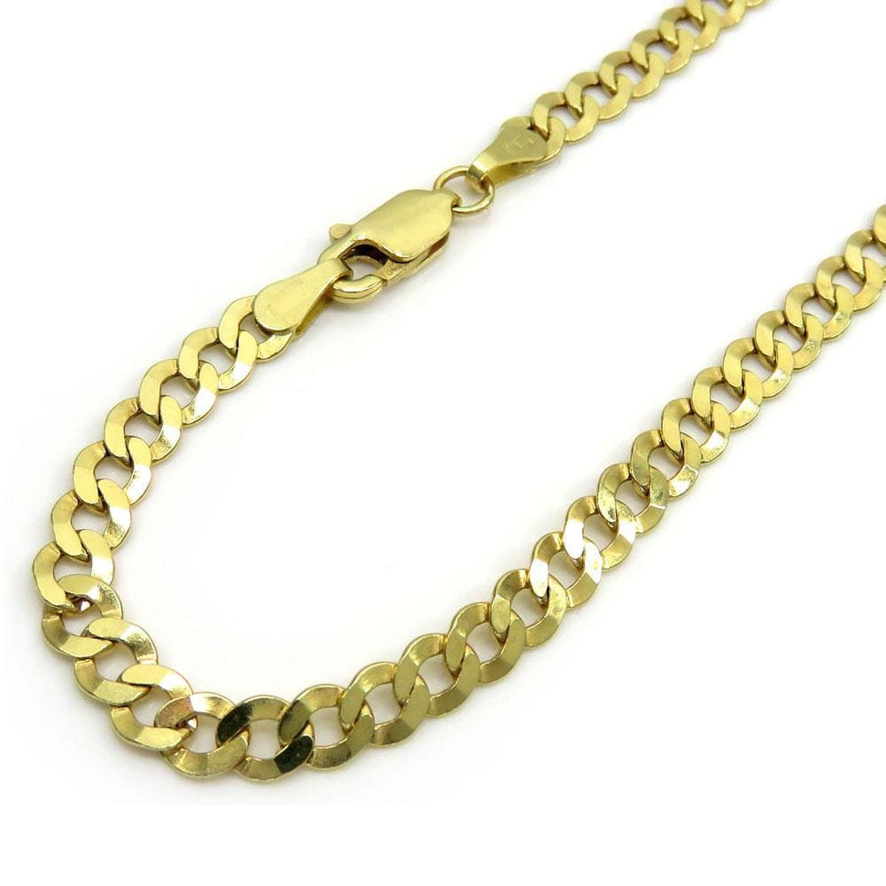 4.5MM 10K Yellow Gold Hollow Cuban Chain, Chain, Jawa Jewelers, Jawa Jewelers