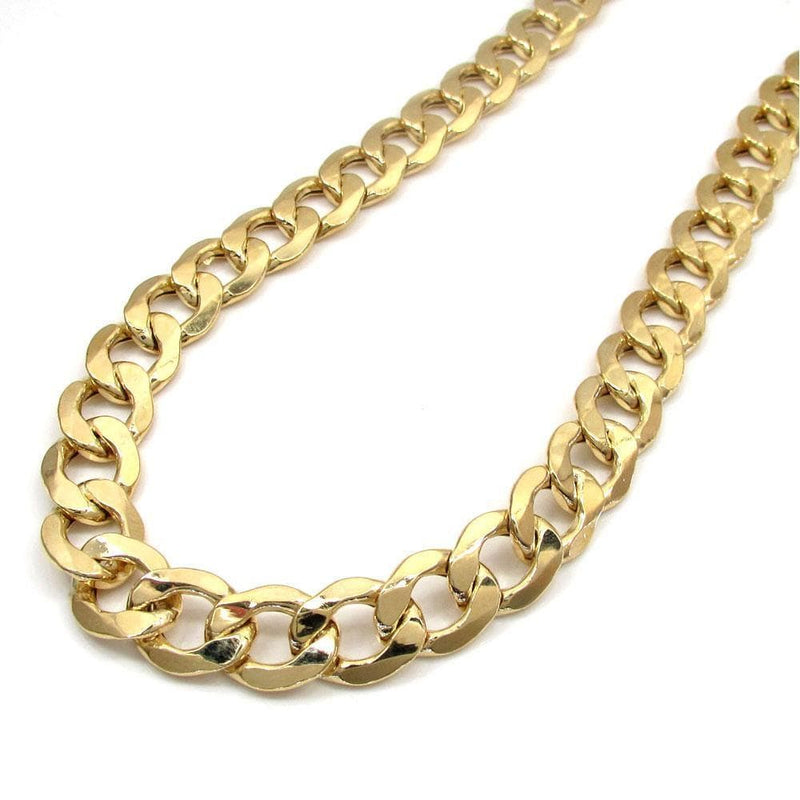 10.5MM 10K Yellow Gold Hollow Cuban Chain, Chain, Jawa Jewelers, Jawa Jewelers