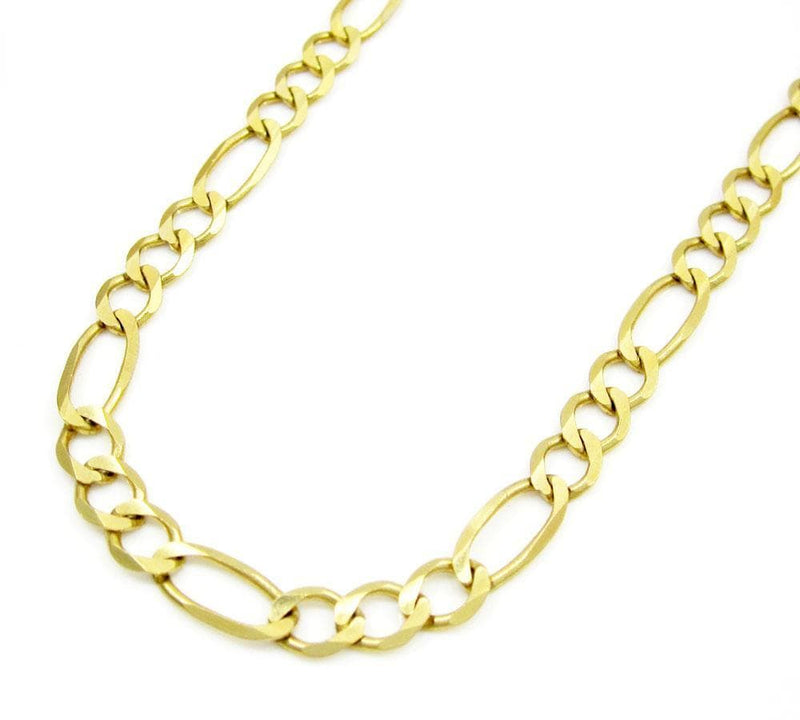 5MM 10K Gold Hollow Figaro Link Chain, Chain, Jawa Jewelers, Jawa Jewelers