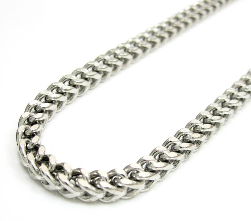 10K White Gold 4MM Hollow Franco Chain, Chain, JJ-AG, Jawa Jewelers