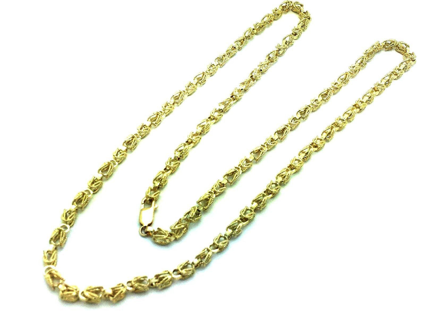 7MM Womens 10K Yellow Gold Turkish Style Link Chain Necklace 20