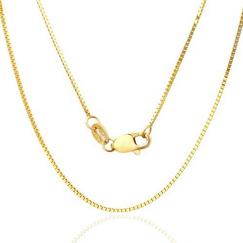 10K Yellow Gold 2.5 MM Box Necklace Link Chain 16 to 24 Inches - Jawa Jewelers