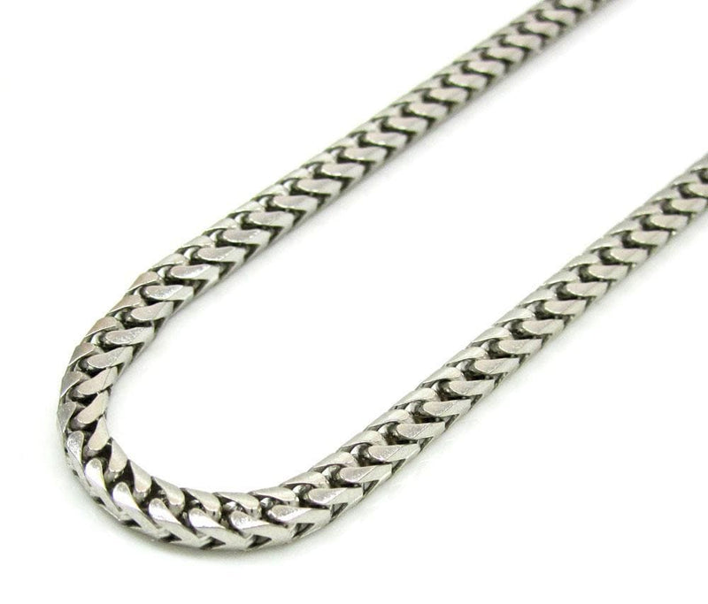 10K White Gold 2.8MM Diamond Cut Franco Chain, Chain, JJ-AG, Jawa Jewelers