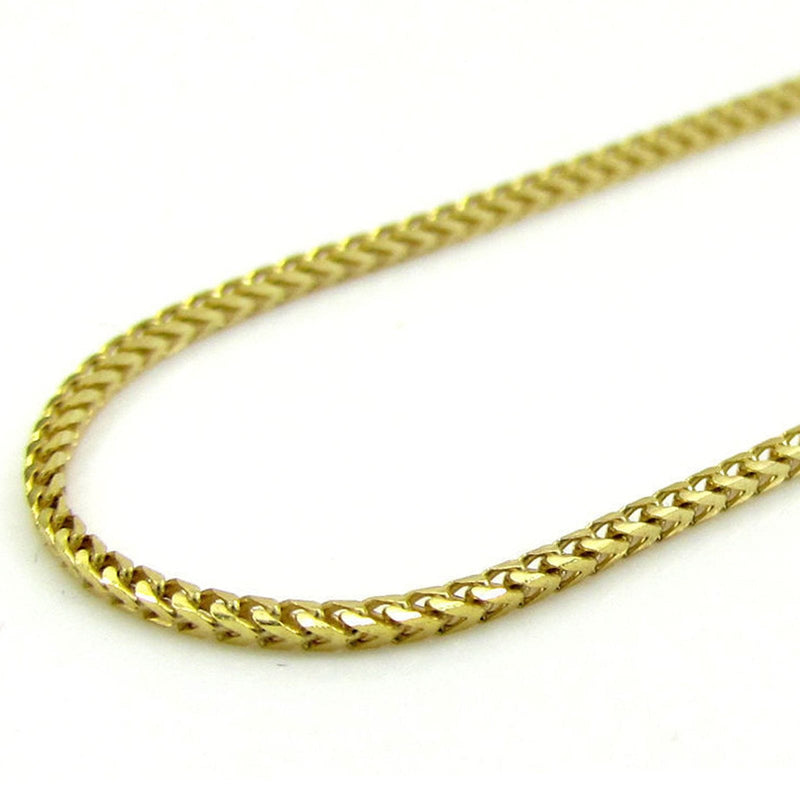 10K Yellow Gold 4MM Hollow Franco Chain