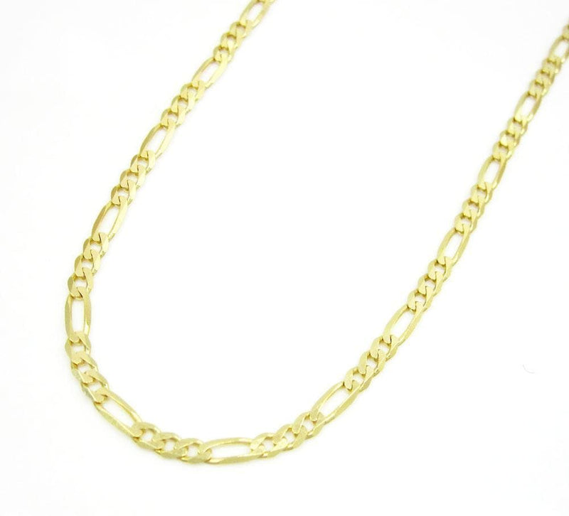 2MM 10K Yellow Gold Figaro Link Chain Necklace, Chain, Jawa Jewelers, Jawa Jewelers