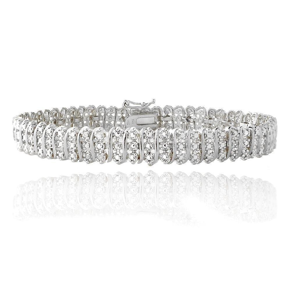 Diamond Wave Link Tennis Bracelet