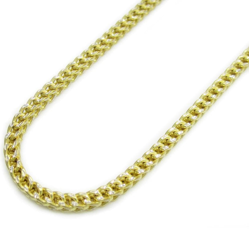 10K White Gold 2MM Pave Hollow Franco Chain, Chain, JJ-AG, Jawa Jewelers