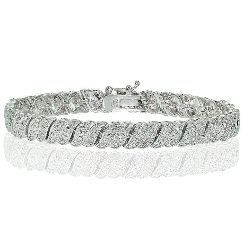 diamond tennis bracelet white gold