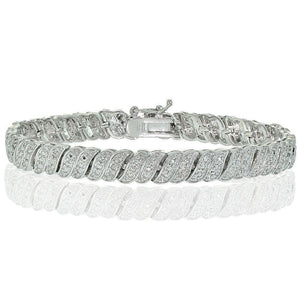 Diamond Tennis Bracelet, Length 7.5 inches